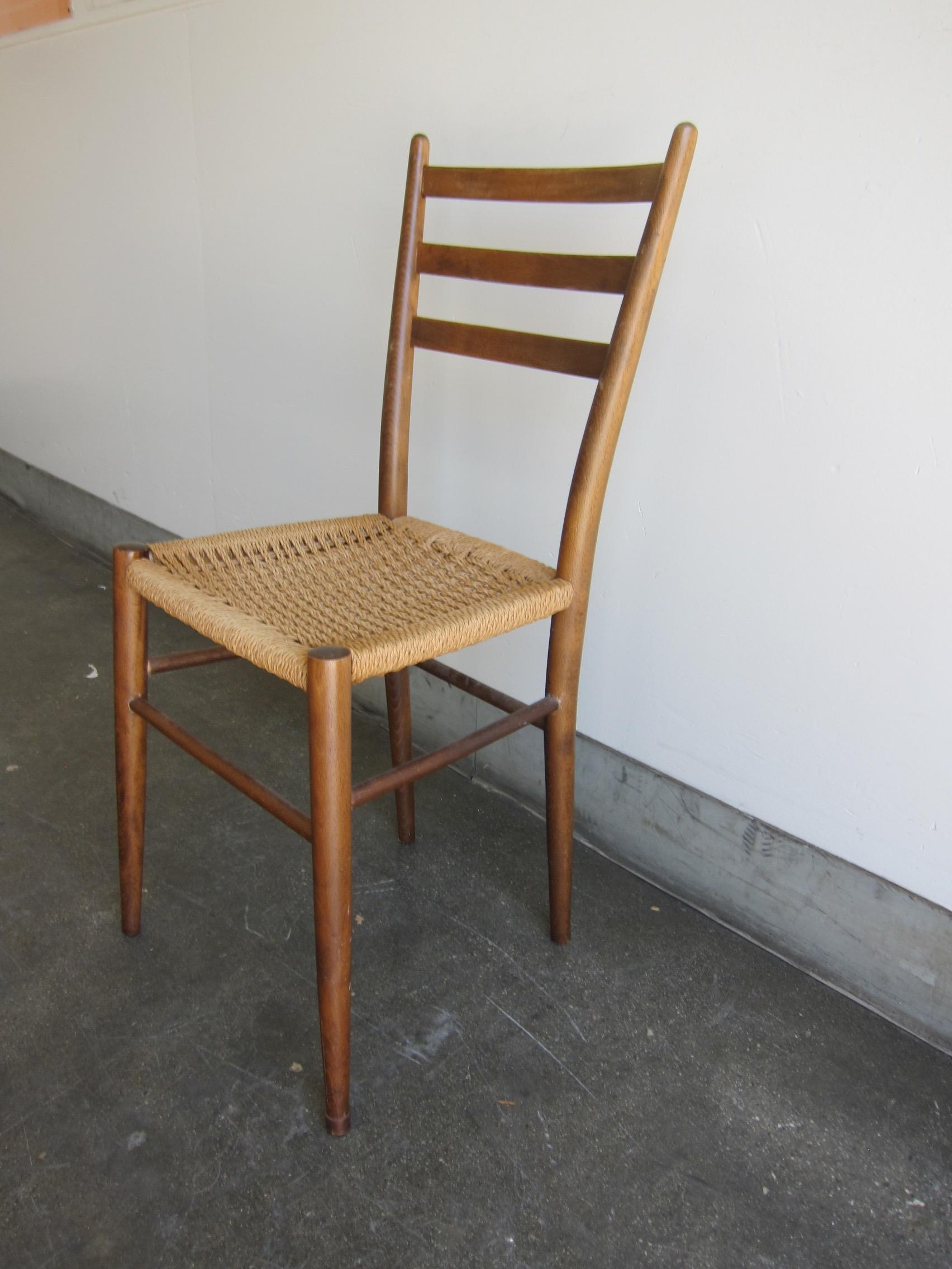 Gio Ponti Style Ladder Back Chair   Image 5 Of 8