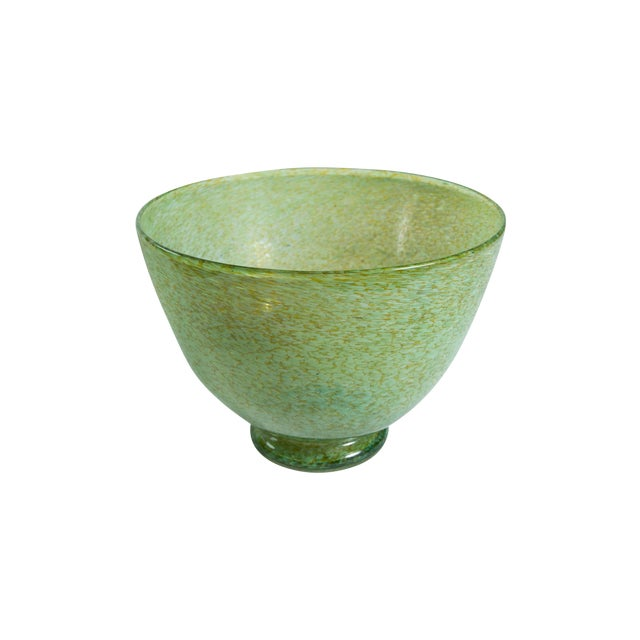 Hand-Blown Green Bowl - Image 1 of 4