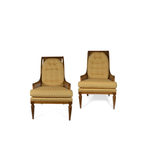 Mid-Century Cane Club Chairs - Pair - Image 5 of 6