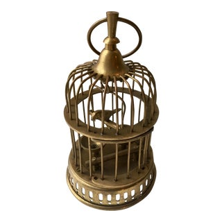 Hollywood Regency Brass Birdcage