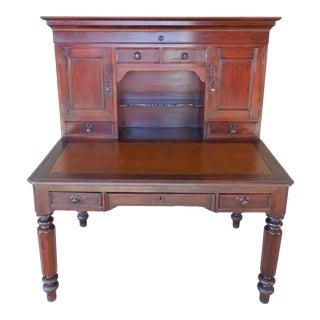 Antique David Shearer Pennsylvania 2-Piece Plantation Desk