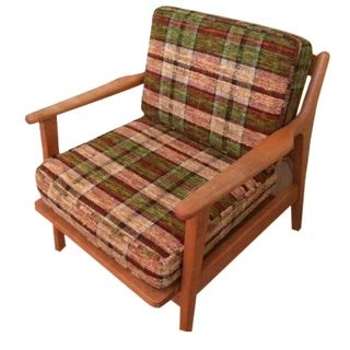 Conant Ball Mid-Century Plaid Lounge Chair
