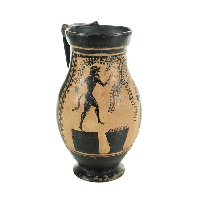 Ancient Greece Pottery Vase with Black Figure - Image 8 of 9