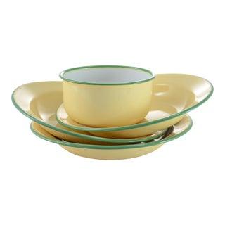 Yellow Enamelware Bowls - Set of 4