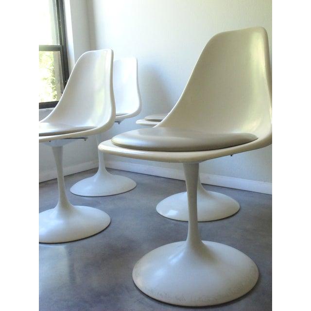 Image of Mid-Century Tulip Burke Dining Swivel Chairs - S/4