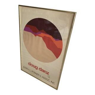 Vintage Doug Danz Framed Poster