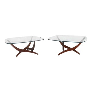 Mid-century Sculptural End Tables by Forest Wilson - a Pair