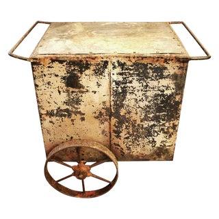 Vintage Industrial Push Cart