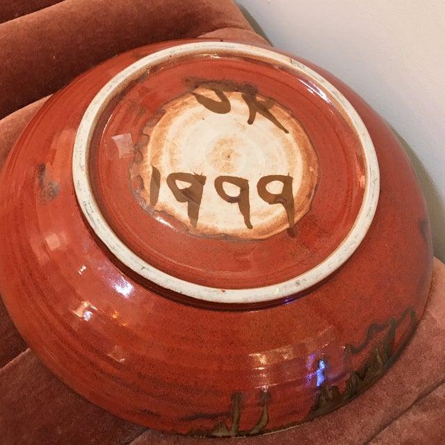 Earth Tone Studio Pottery Plate - Image 5 of 6