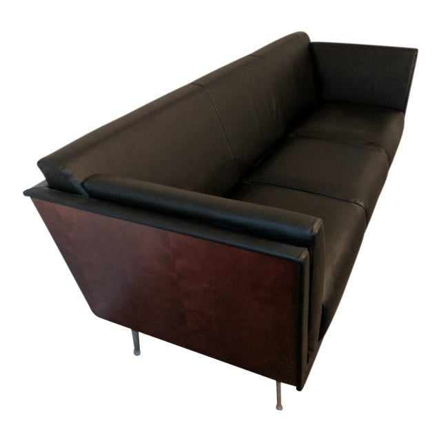 Image of Herman Miller Goetz Leather Sofa