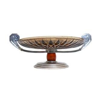 French Art Deco Chrome & Glass Tazza