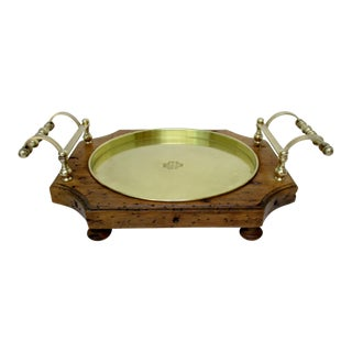 Wood & Brass Serving Tray