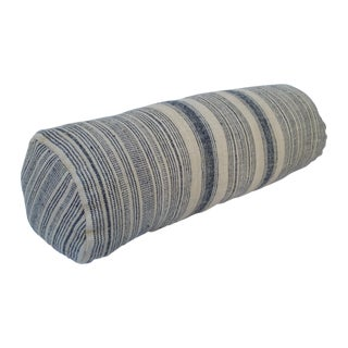 Tribal Indigo Stripe Neck Pillow