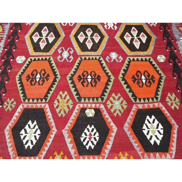 Vintage Turkish Kilim Rug - 6′6″ × 12′5″ - Image 6 of 10