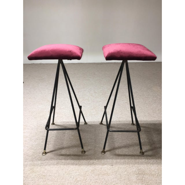 Adrian Pearsall Handmade #11 Bar Stools- A Pair - Image 2 of 3