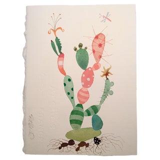 """""""Party Cactus"""" Watercolor Painting by Steve Klinkel"""