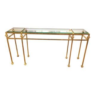 Giacometti Style Italian Gilt Iron Console Table