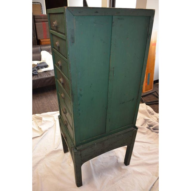 Green Painted Eight-Drawer Cabinet - Image 7 of 10