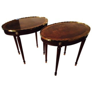 Baker Stately Homes Oval Tables - Pair