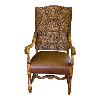 Heritage Leather & Fabric Armchair