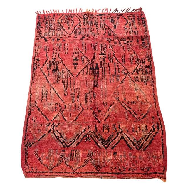 Azilal Tribal Design Moroccan Rug - 4'7'' x 6'6'' - Image 1 of 4