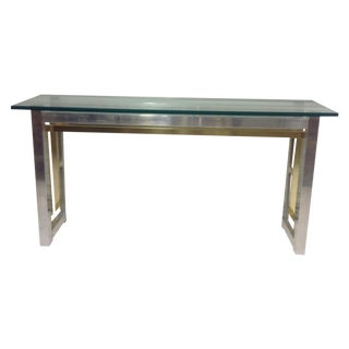 Romeo Rega Chrome and Brass Console Table