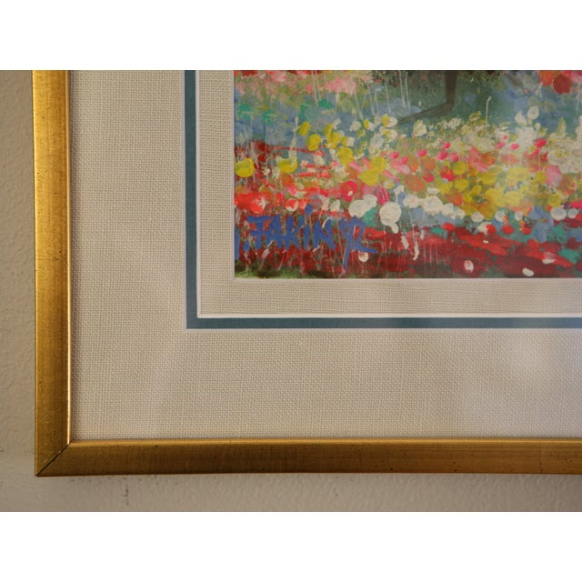 Gold Framed Painting: Little House in a Garden - Image 4 of 4