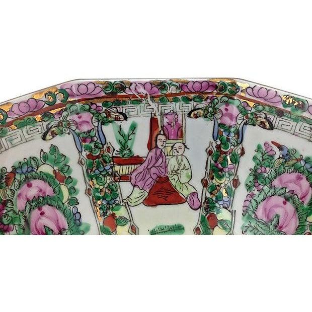 Image of Mid-Century Famille Rose Porcelain Octagonal Bowl