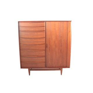 Vintage Falster Mid-Century Modern Teak Highboy Dresser