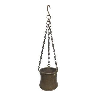 Vintage Brass Hanging Planter