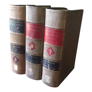 1898 Law Encyclopedia Books - Set of 3
