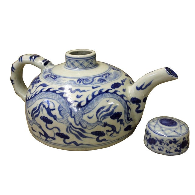 Image of Chinese Blue & White Porcelain Teapot