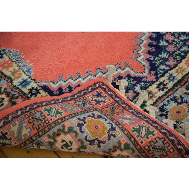 "Vintage Red & Blue Moroccan Rug - 6'8"" X 9'6"" - Image 6 of 9"