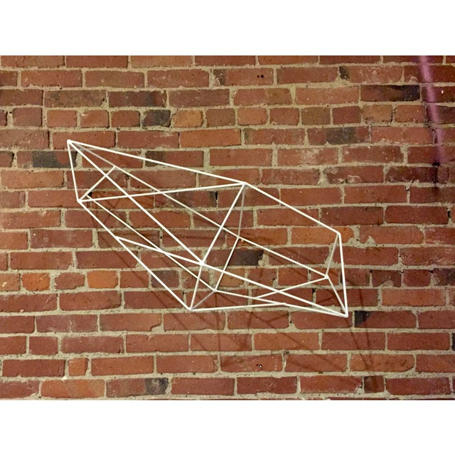 Minimalist Powder Coated Abstract Polyhedron Geometric Sculpture - Image 2 of 5