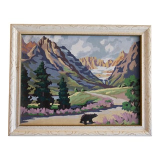 Charming Mountain Scene Paint by Number