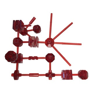 Red Acrylic Geometric Erector Set