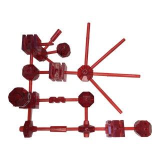 Red Acrylic Geometric Erector Set