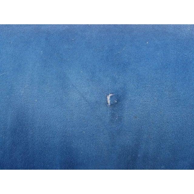 Vladimir Kagan for Directional Nautilus Sofa in Blue Velvet - Image 5 of 11