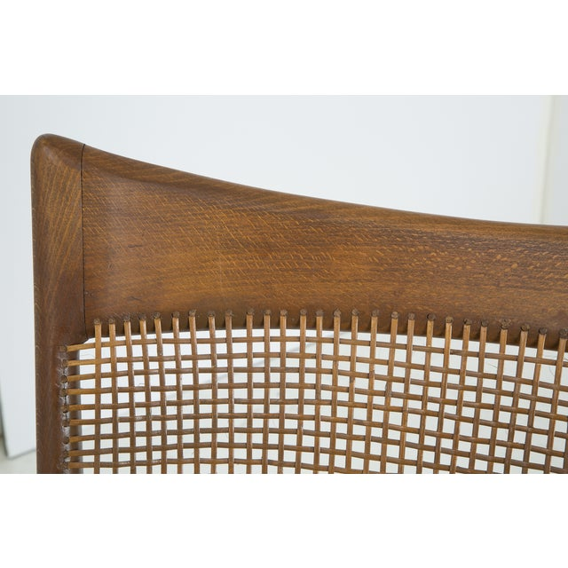 Image of Jens Risom Style Woven Back Chairs - Pair