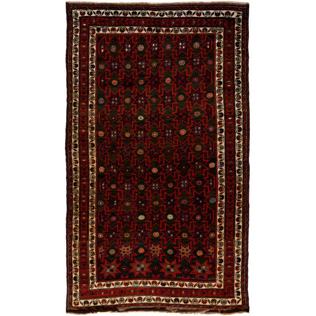 """New Tribal Hand Knotted Area Rug - 5'2"""" x 8'9"""" - Image 1 of 3"""