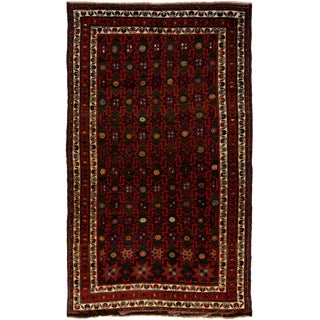 """New Tribal Hand Knotted Area Rug - 5'2"""" x 8'9"""""""