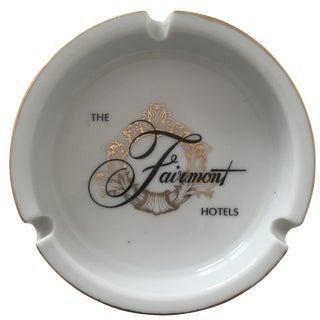 Vintage Mid-Century Fairmont Hotel Ceramic Ashtray