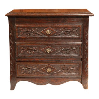 19th Century French Louis XV Carved Oak Box