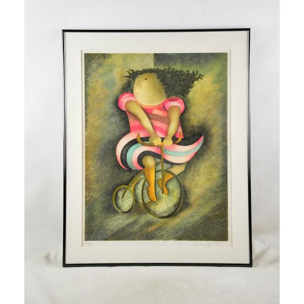 """Limited Lithograph """"Girl on Tricycle"""" by Graciela Rodo Boulanger - Image 2 of 8"""