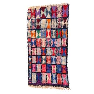 """Vintage Moroccan Boucherouite Carpet - 3' X 5'4"""""""