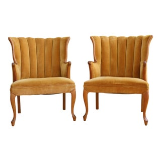 Vintage Velvet Chairs - A Pair