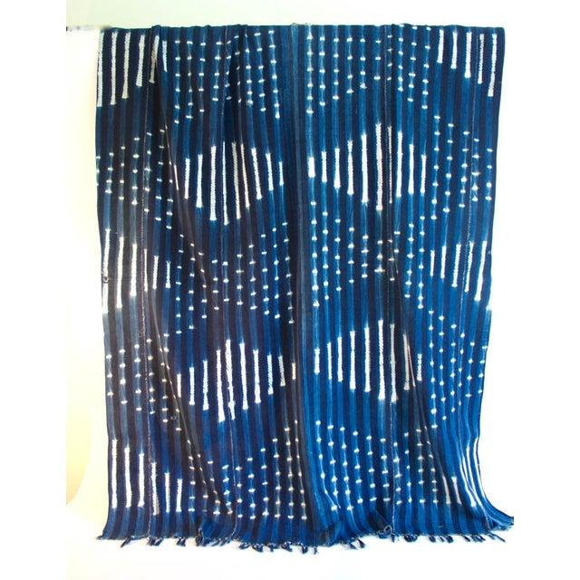 Vintage African Indigo Textile Throw - Image 2 of 5