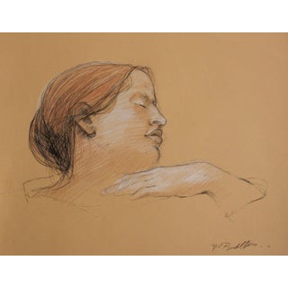 """Elizabeth With Her Hand Over Her Breast"" Drawing"