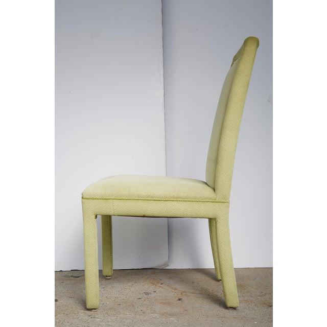 Velvet & Brass Detail Dining Chairs - Set of 8 - Image 3 of 9