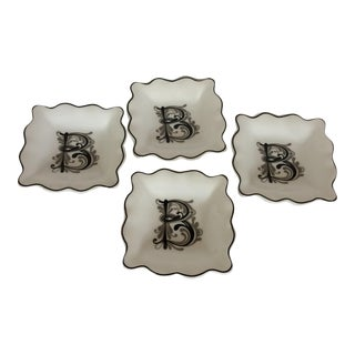 "Monogrammed ""B"" Nut Dishes - Set of 4"